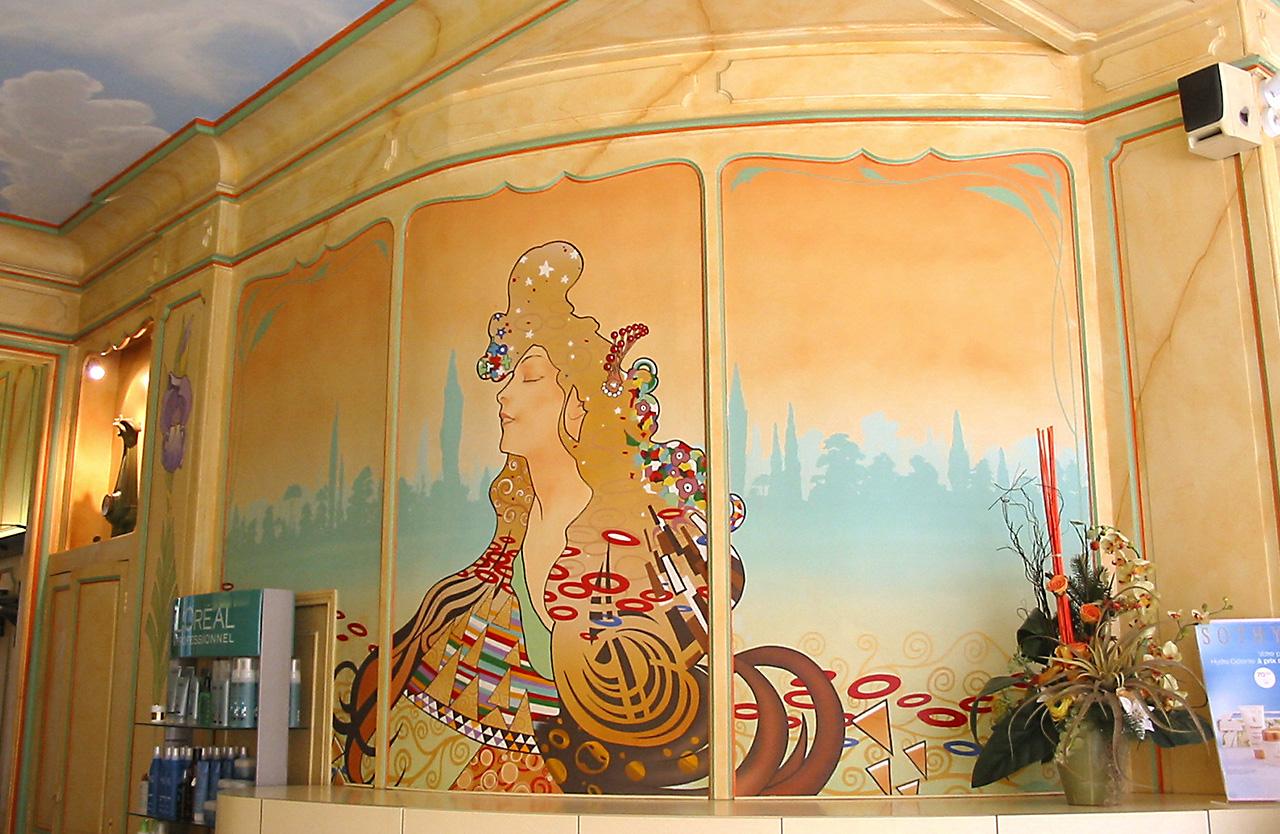 Trompe l oeil interieur finest papier with poster mural for Trompe l oeil mural interieur